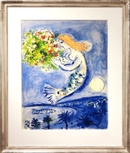Marc CHAGALL - Estampe-Multiple - La baie des anges (Nice Soleil Fleurs) - The angel's bay