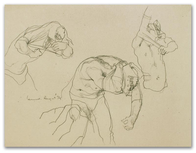 Michael LEONARD - Disegno Acquarello - Shirt on fast: side view x 3