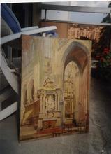 Alfred MARTIN - Pintura - interieur d'église