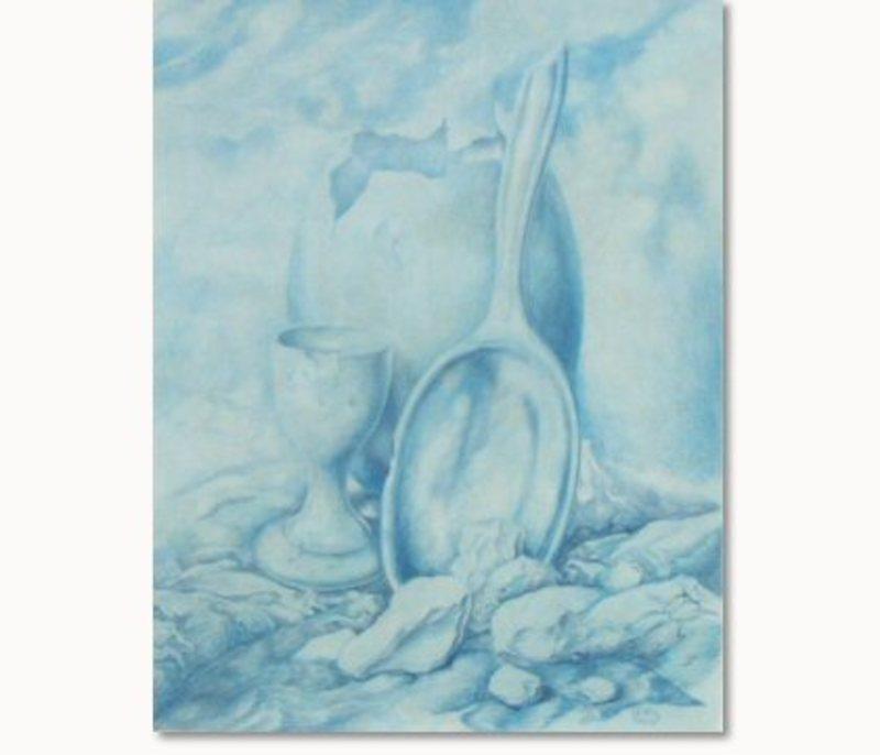 Samuel BAK - Painting - Still life (blue)