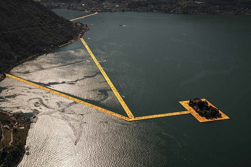 CHRISTO - Photography - Lago d'Iseo - WV04