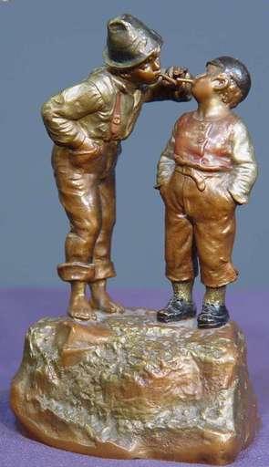 Franz BERGMANN - Sculpture-Volume - Sharing a Smoke