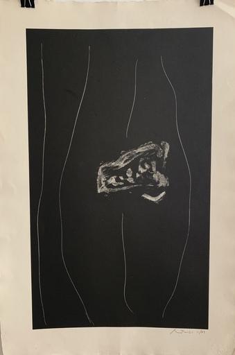 罗伯特•马塞维尔 - 版画 - Soot black stone