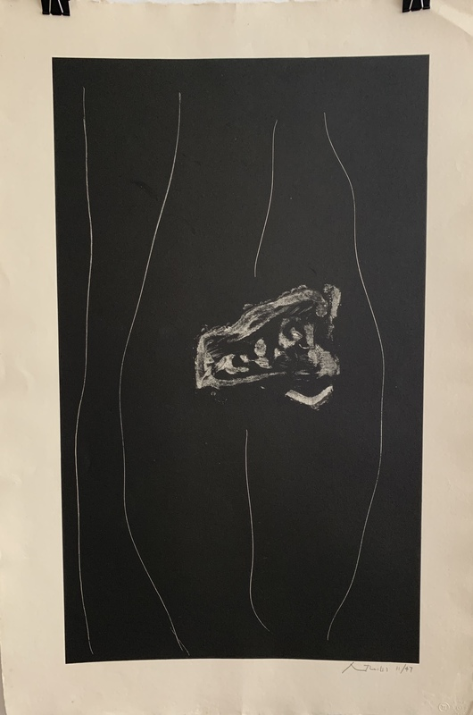 Robert MOTHERWELL - Print-Multiple - Soot black stone