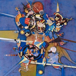 Alferio MAUGERI - Painting - Hommage à Kandinsky