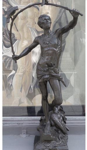 Auguste DE WEVER - Sculpture-Volume - L'oiseleur hindou