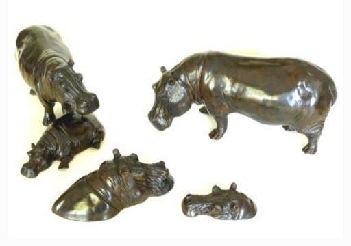 Damien COLCOMBET - Sculpture-Volume - Le bain des hippopotames