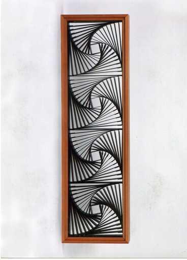 Manfredo MASSIRONI - Sculpture-Volume - Struttura a quadrati ruotati in cartoncino dipinto di Blu