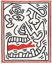 Keith HARING - Grabado - Untitled , from Three Lithographs