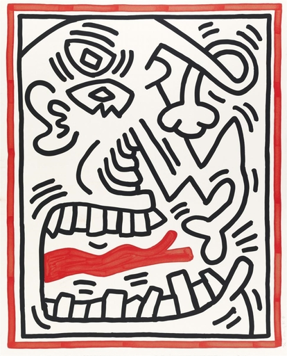 Keith HARING - Estampe-Multiple - Untitled , from Three Lithographs