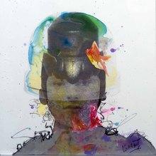 Jean-Luc CURABET - Painting - Comme un insecte sur le dos