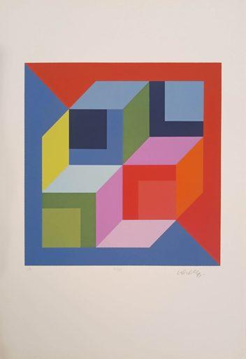 Victor VASARELY - Estampe-Multiple - Lapidarie-K