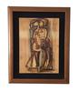 Oswaldo VIGAS - Zeichnung Aquarell - Mujer Sentada con Hojas
