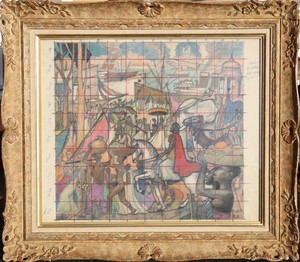 """Raymond DIERICKX - Drawing-Watercolor - """"GRANDE ETUDE POUR LE CORTEGE DES ROIS MAGES3"""