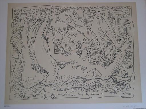 André MASSON - Print-Multiple - LITHOGRAPHIE SIGNÉE AU CRAYON NUM/150 HANDSIGNED LITHOGRAPH