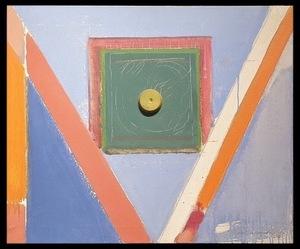 Alberto RAFOLS CASAMADA - Painting - cuadrado y rallas