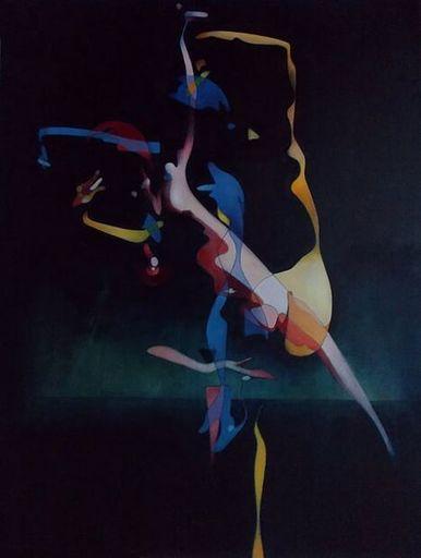 Milburn FOSTER - Peinture - Delhia Dancing in the Garden II