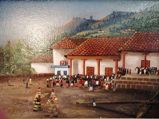 Absalon MOYANO - Painting - Une fête en Equateur
