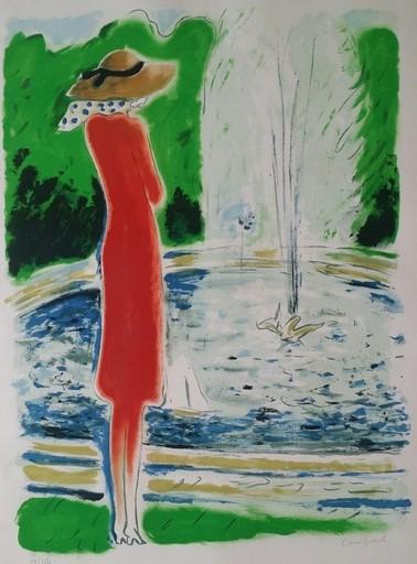 Jean-Pierre CASSIGNEUL - Grabado - JET D EAU (1974)