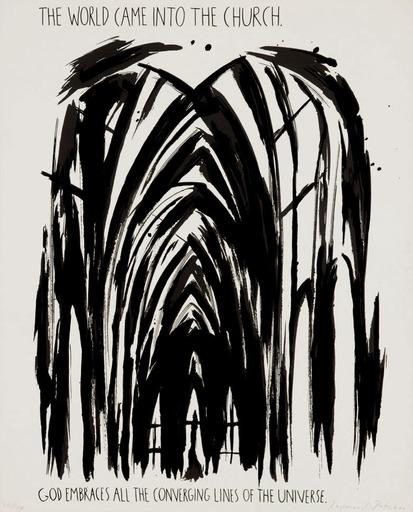 Raymond PETTIBON - Print-Multiple - The World Came into the Church