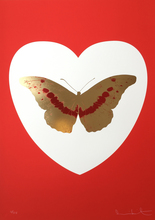 Damien HIRST (1965) - I Love You - White/Red/Cool Gold/ Poppy Red