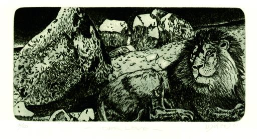 Ernst MAROW - Grabado - Der Löwe