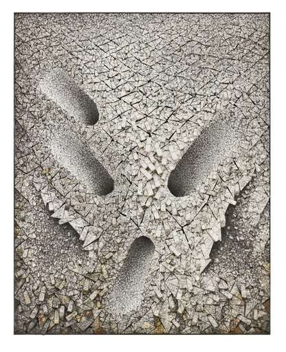 Kwang-Young CHUN - Pittura - Aggregation 07-N081