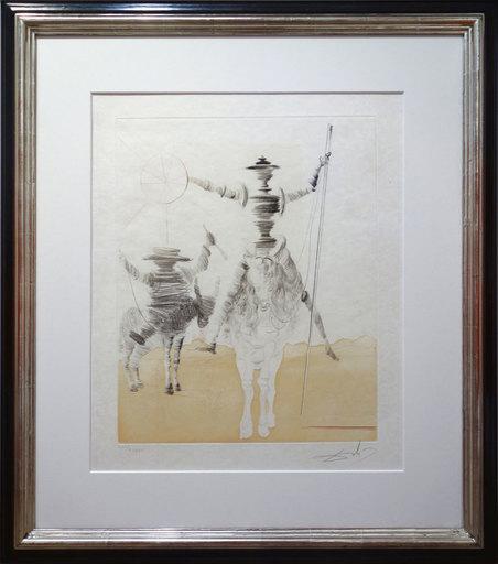 Salvador DALI - Print-Multiple -  Don Quijotte und Sancho Panza