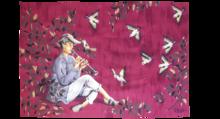 Gaston THIERY - Tapiz - Charmeur d'oiseaux