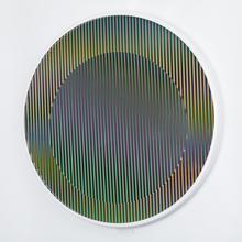 Carlos CRUZ-DIEZ - Sculpture-Volume - Chromointerference manipulable circulaire