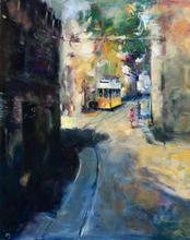 """Levan URUSHADZE - Peinture - """"Old Lisbon Street"""""""