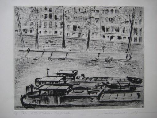 François SOULAS - Grabado - GRAVURE 1957 SIGNÉ CRAYON NUM/15 HANDSIGNED ETCHING
