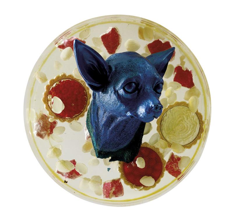 William SWEETLOVE - Sculpture-Volume - Head blue chihuahua