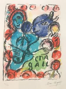 Marc CHAGALL - Print-Multiple - Pantomime