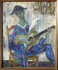 "Robert DEBIEVE - Painting - ""L'Arlequin a la Colombe"""