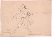 """Hippolyte BELLANGÉ - Dibujo Acuarela - """"Caricature"""""""