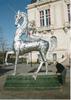 Stanko KRISTIC - Scultura Volume - COMEDIE MYTHOLOGIQUE, licorne chevauchée avec la Reine Sirèn