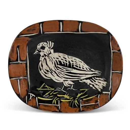 Pablo PICASSO - Keramiken - Colombe mate - Taube im Nest