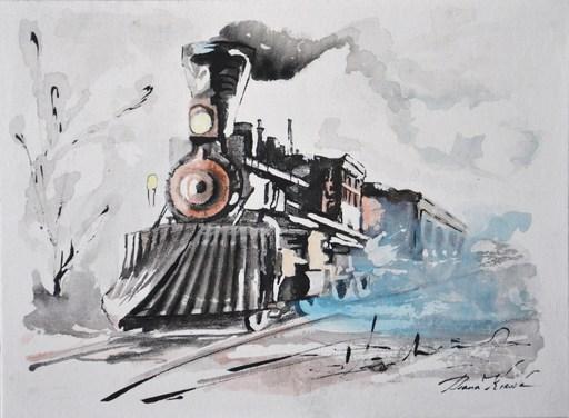 Diana KIROVA - Zeichnung Aquarell - Treno dei sogni