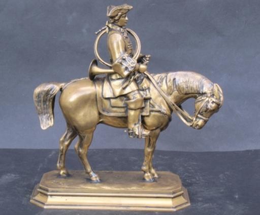 Antoine Louis BARYE - Sculpture-Volume - Piqueur en habit Louis XV