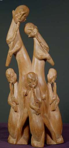 Walter HORAK - Escultura - Family of Flute Players