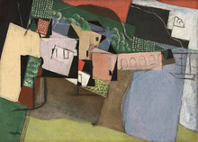 Henri HAYDEN - Pintura - Le port aux arcades