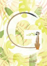 Rocío DEL MORAL - Estampe-Multiple - Animal Alphabet - The letter G    (Cat N° 6180)