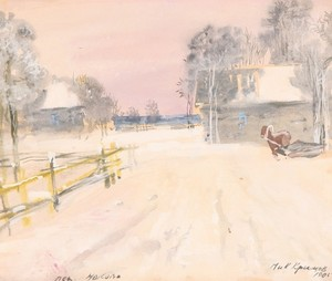 Nikolai Petrovich KRIMOV, Winter in the Village