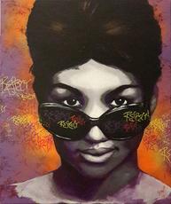 Sylvie MAGNIN - Pintura - Aretha Queen of Soul