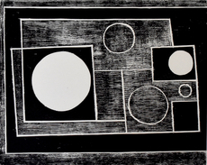 Ben NICHOLSON - Print-Multiple - Five Circles