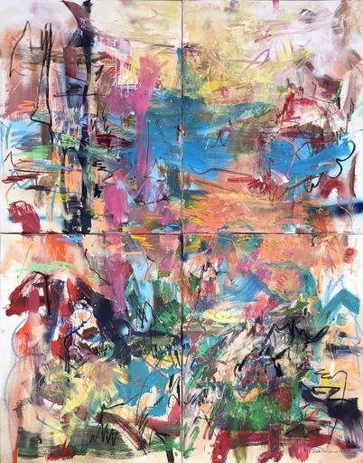 Nicole LEIDENFROST - Gemälde - Blick in eine Landschaft