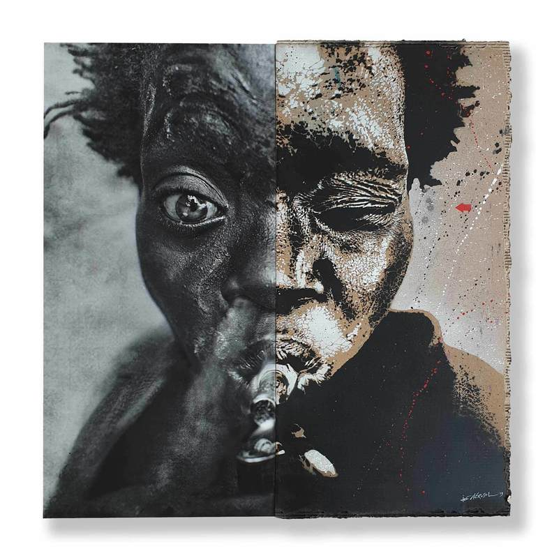 Jef  AÉROSOL & Lee  JEFFRIES - Painting - Latoria