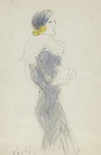 Marcel VERTES - Dessin-Aquarelle - Elegant Woman