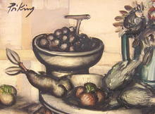 Franz PRIKING - Pintura - Nature morte